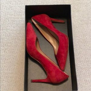 Red banana republic heels